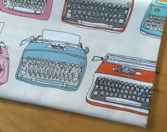 Typewriters by Julia Rothman for Windham - Type Collection - Half Yard - Modern Quilting Sewing Craft Cotton Fabric