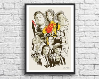 Art-Poster 50 x 70 cm - Tarantino Movies
