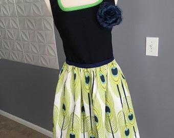 Vintage Apron, Full length Skirt Apron, Women Apron, Pinafore
