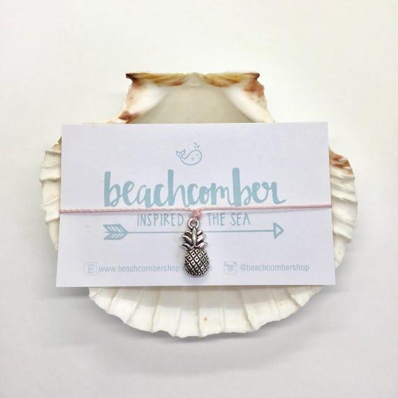 pineapple bracelet anklet, party favour, friendship bracelet, beach jewelry, mermaid jewelry, bridesmaid gift