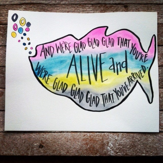Rainbow R Room: Phish 8x10 Nursery Decor Watercolor Quote Art Phish