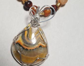 Bumble Bee Jasper Necklace