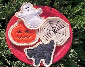 Halloween decoration - Felt pretend cookies - Teacher Halloween gifts - Unique Halloween gifts - Halloween trick or treat bags -#3503