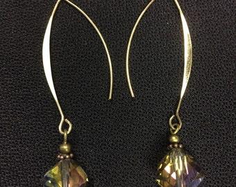 Glass, Crystal earrings