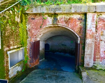 Old tunnel - handmade photograph - color
