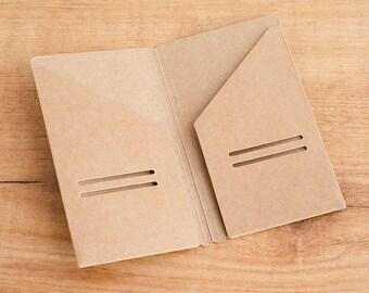 Carpeta kraft para Traveler's Notebook - TAMAÑO POCKET