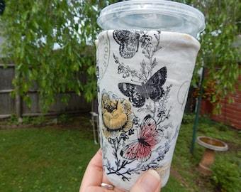 Medium Reversible Iced Coffee Cozy