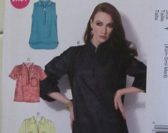 McCall's 6702 Misses' Pullover Tops 3 Designs  Size Xsl-Sm-Med  New- Uncut