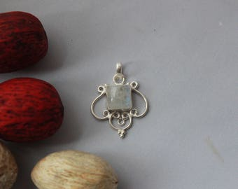 Glorious Moonstone Pendant set in Sterling Silver