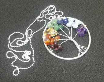 Silver jewellery. Tree of life necklace. Chakra necklace. Silver necklace.