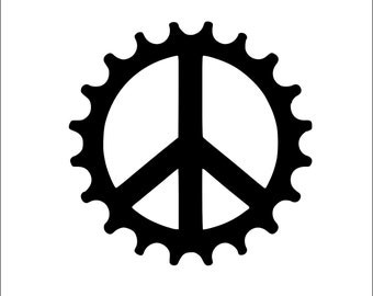 Peace Gear/Cog Mountain Bike,Bike,Motor Cycle,Harley Decal