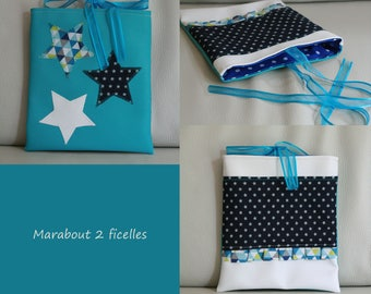 """Blue star"" bag faux leather and cotton"
