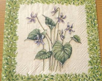 Purple paper towel
