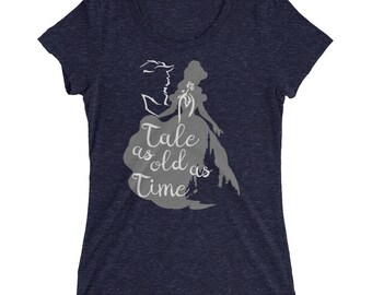 Tale As Old As Time, Beauty and the Beast, Disney, Ladies' Triblend Short Sleeve T-shirt