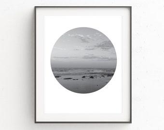 Beach Art, Black and White Photography, Black and White Art, Beach Decor, Beach Wall Art, Nature Photography, Nature Art, Sea Print
