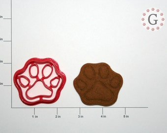 Dog Paw Print Cookie Cutter - 3 Sizes To Choose From