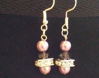 Purple Sparkle Earrings