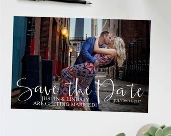 Calendar Save the Date Photo Card   Photo Postcard   Wedding Invitation   Save the Date Announcement   Calendar Save the Date   Postcard