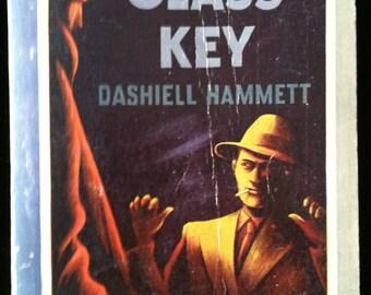 Vintage Paperback Pocket Book 211 The Glass Key by Dashiell Hammett 1943 VG-