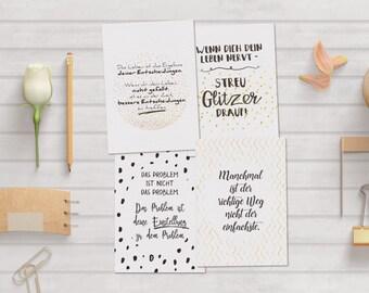 Postcards-set life folding card greeting card
