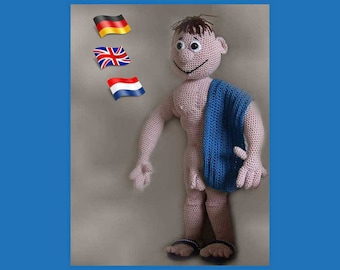 Philippe Mister Universe, Amigurumi doll crochet pattern, crocheted dolls pattern, amigurumi PDF pattern, Instant download