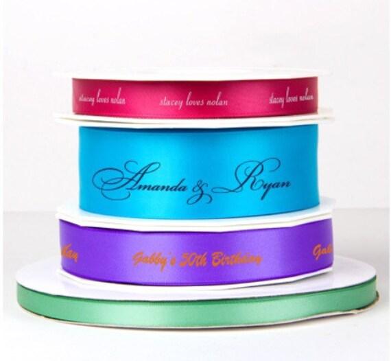personalized ribbon, custom ribbon, satin ribbon, gift box ribbon, foil stamped ribbon, reception favor ribbon, decorative ribbon