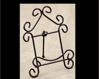 Display Stand Black Metal Scroll Series Plate Stand Easel Wrought Iron Stand  sc 1 st  Etsy & Plate stand   Etsy