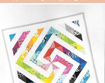 Pattern ''Rainbow Swirl Mini'' Quilt Sewing Pattern by Down Grapevine Lane (DG701)