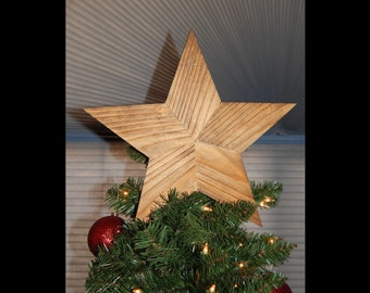 Rustic Farmhouse Christmas Tree Topper