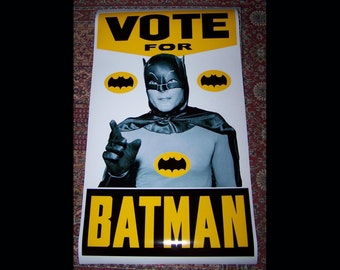 VOTE FOR BATMAN 40x24 poster reproduction from Batman tv series Hizzoner the Penguin/Dizzoner the Penguin