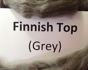 Grey Finnish top/roving