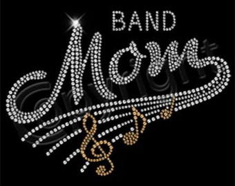 T-Shirts, Rhinestone Band Mom, Shirts, Rhinestones, Band Mom, T-Shirt, V-Neck, Women Clothing, Bling Shirts, Sports Grafix Shirts