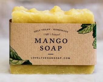 Mango soap vegan soap needs mom gift ideas homemade soap natural soap handmade soap gift-for-her gift for women girlfriend soap gift vegan
