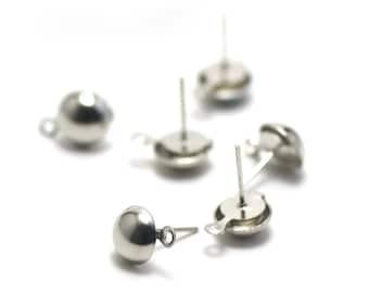 20 Stud 14 x 8 mm Silver Earring dangle earrings