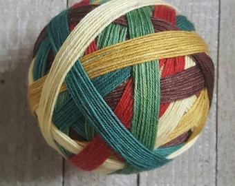 Hand Dyed, Self Striping Sock Yarn ~ Vintage Christmas ~ Sockcess ~ Fingering  75/25 superwash merino/ nylon or Sport ~  80/20