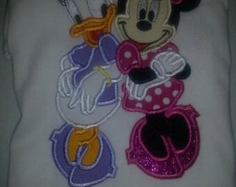 Minnie Daisy Custom Disney Embroidery Applique