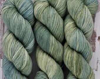 Sage - Hand Dyed Yarn - Sock Yarn - Fingering Yarn - Superwash Merino / Nylon  - 100 gms