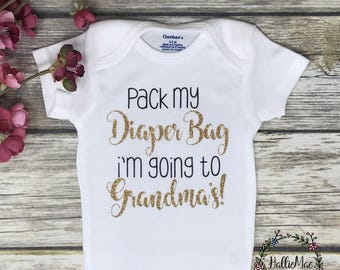 Pack My Diaper Bag, Baby Girl Onesie, Baby Shower Gift, Baby Girl Gift, Infant Clothing, Cute Baby Gift, Newborn Onesie