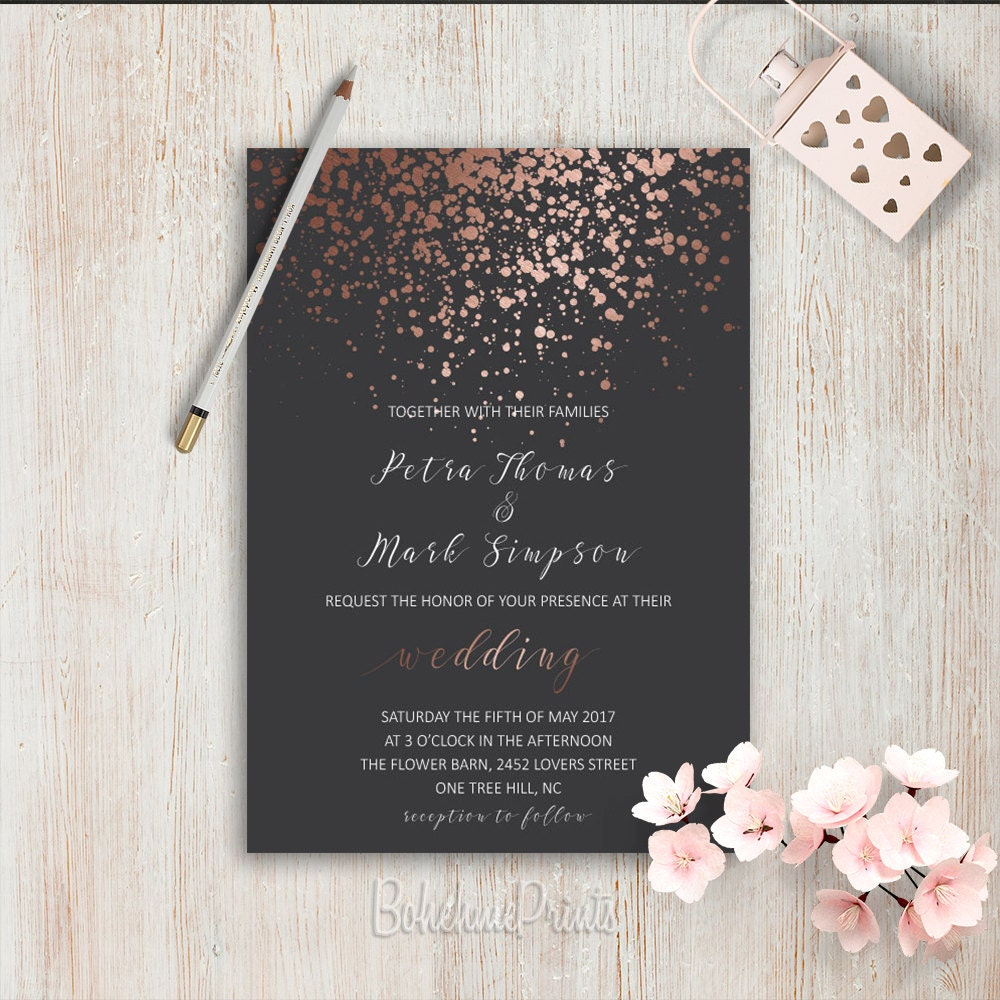 Elegant Wedding Invitations Simple Wedding Invitation Rose