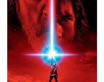 Star Wars The Last Jedi Film Poster A4