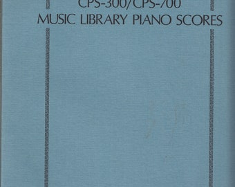 Casio Piano Sound Vintage Music Library Piano Scores CPS-300/CPS-700 Vintage ©1988