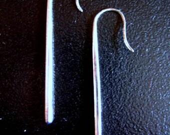 CLASSIC MODERN SPIKE Long Silver Earrings