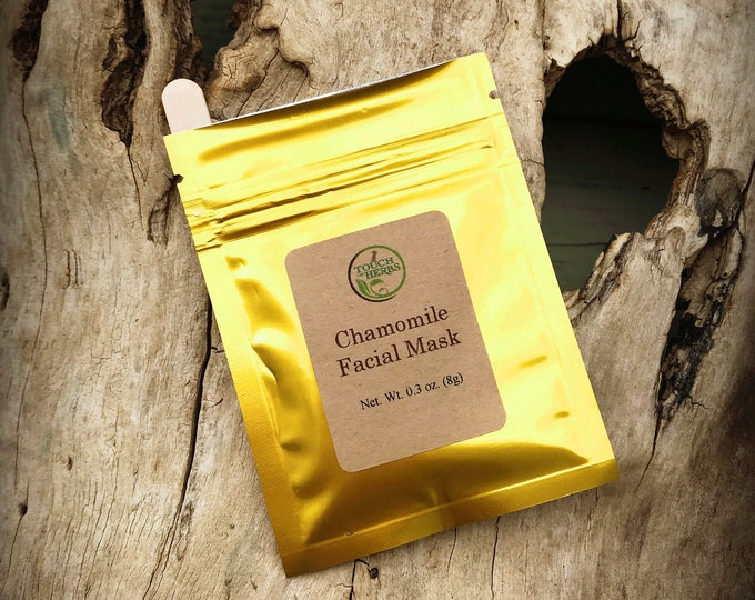 Face mask sample - Chamomile face mask - Face mask skin - Natural skin care products - gifts under 5 - Herbal products - Touch of herbs