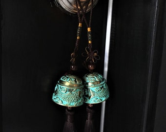 Feng Shui Turquoise Bells for Entrance and Benefits