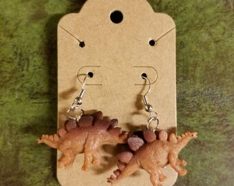 Stegosaurus Dinosaur toy Earrings