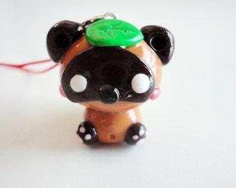 Cute Tanuki Polymer Charm