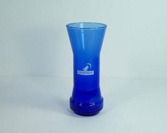 Blue Eristoff glass Vodka Eristoff advertising item vintage