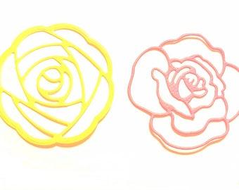 Scrapbooking flowers set of 2 cut cut