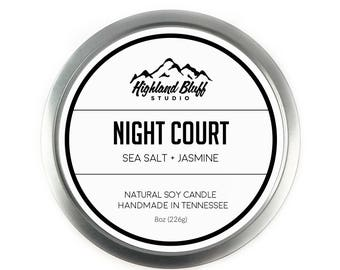 Night Court // Ocean Breeze + Jasmine // 8oz Soy Candle