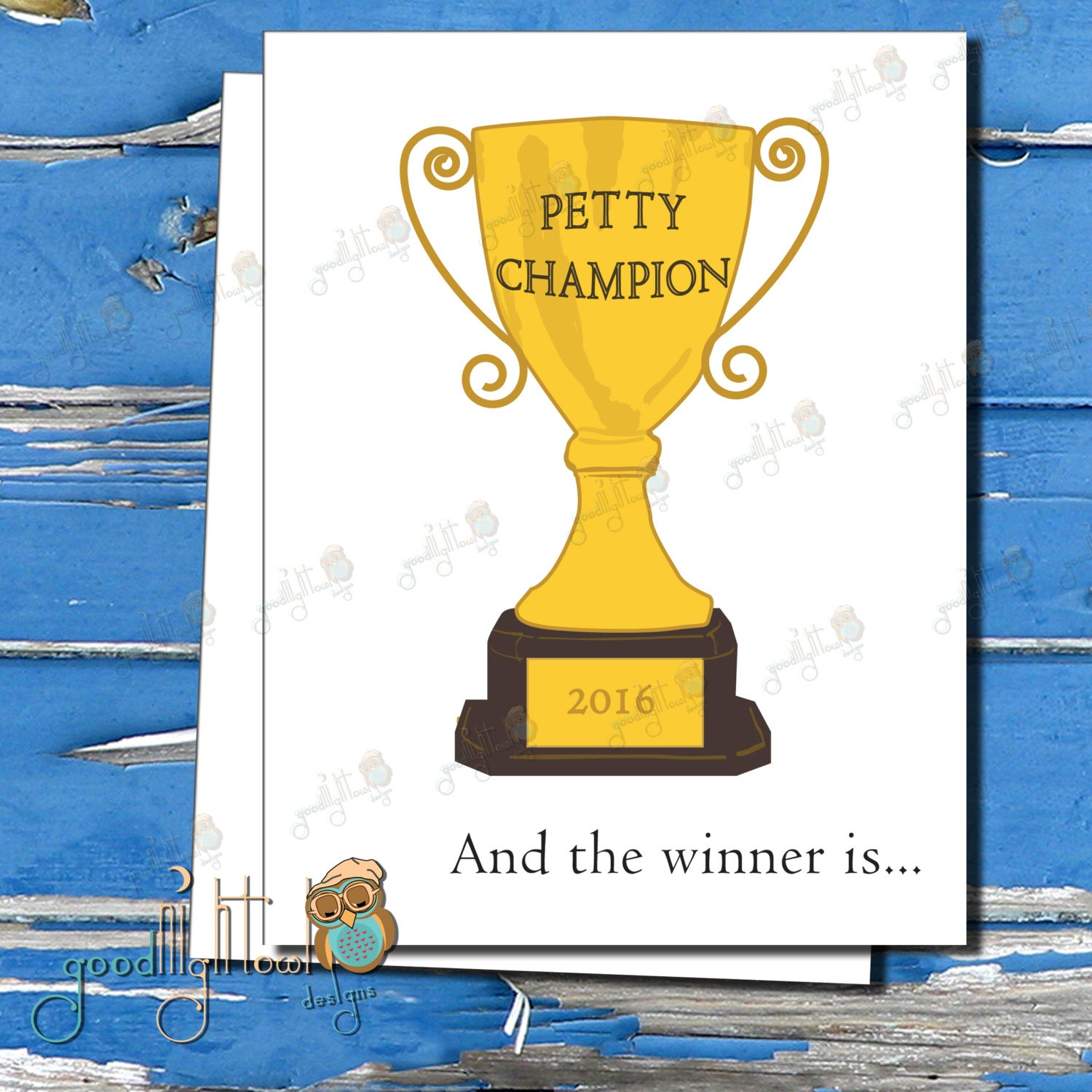 Funny encouragement card petty champion and the winner is zoom kristyandbryce Image collections
